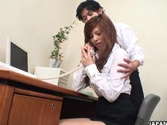 Asian cuttie property toy fucked at the office