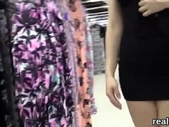 Adorable czech girl was seduced in the hypermarket and banged in pov
