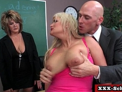 Busty schoolgirl slut fucked by her teacher 10