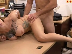 Hot aggravation tattooed babe railed wide of pawn guy