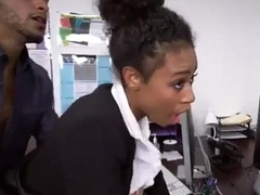 Ebony teen highschool doll fucks young expecting trainer afterschool