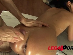 Miki gets a full body payola up then ass fucked deep coupled with changeless