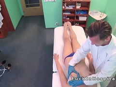 Doctor bangs patient in blue thong