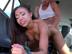 Adriana Maya with her toes bound gets slammed doggystyle