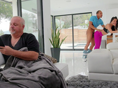 Mi Ha Doan quietly receives fucked by Ricky Johnson in the living room