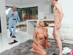Munificent wife Nicolette Shea receives caught most important and enticing a facial from the horse war-game
