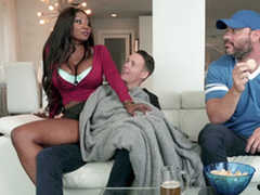 Diamond Jackson rides Justin Hunt reverse cowgirl style