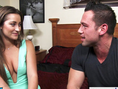 Hottie Danie Daniels hops on his big dick plus rides him steadfast
