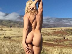 Beautiful girl Anikka Albrite takes off clothes with respect to the fresh air