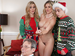 Keep The Xmas Lights Tied On - Mom Cory Woo In hammer away porn scene