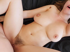Stunning Lena Paul receives her pussy fucked while her tits bounce
