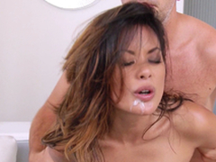 Hot Oriental Chick Gets Hairless Snatch And Anal invasion Crevice A Hard-core Pounding