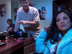 Incomparable Alektra Blue and Kaylani Lei love amazing FFM lovemaking indoors