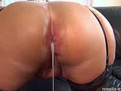 Submissive slut indestructible Ass screwed by a brutal men horde, including extreme contents with sperm and piss!