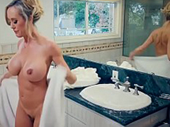 Brazzers - Mommy Got Knockers -  Hands-On Learning scene starring Brandi Have a crush on and Jordi El Niño