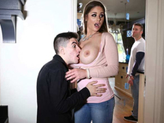 Mom Cathy Heaven and son Jordi El Niño Polla taboo hot sex