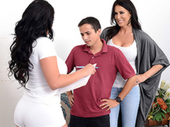 Mom Reagan Foxx tricks son Ricky Spanish, and he cums backing bowels her
