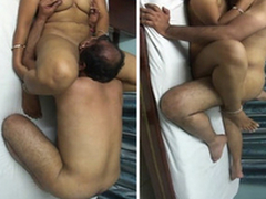 Sexy mature Indian aunty foreplay