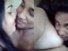 Indian suitor Kissing and Boobs sucking