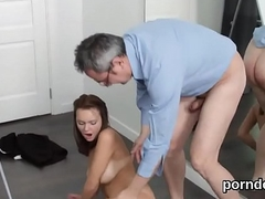 Nice schoolgirl was tempted and nailed by her older teacher