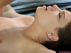 Small tits masseuse railed by client after nuru massage