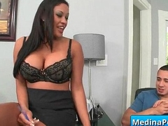 Big tit enchase drilled by say no to boss 17