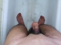 Shaving My Big Thick Crestfallen Hawt Hairy Cock &amp_ Balls in the BathRoom !!!