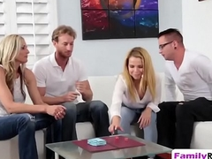 Blonde girlfriends dirty playtime swapping sex partners